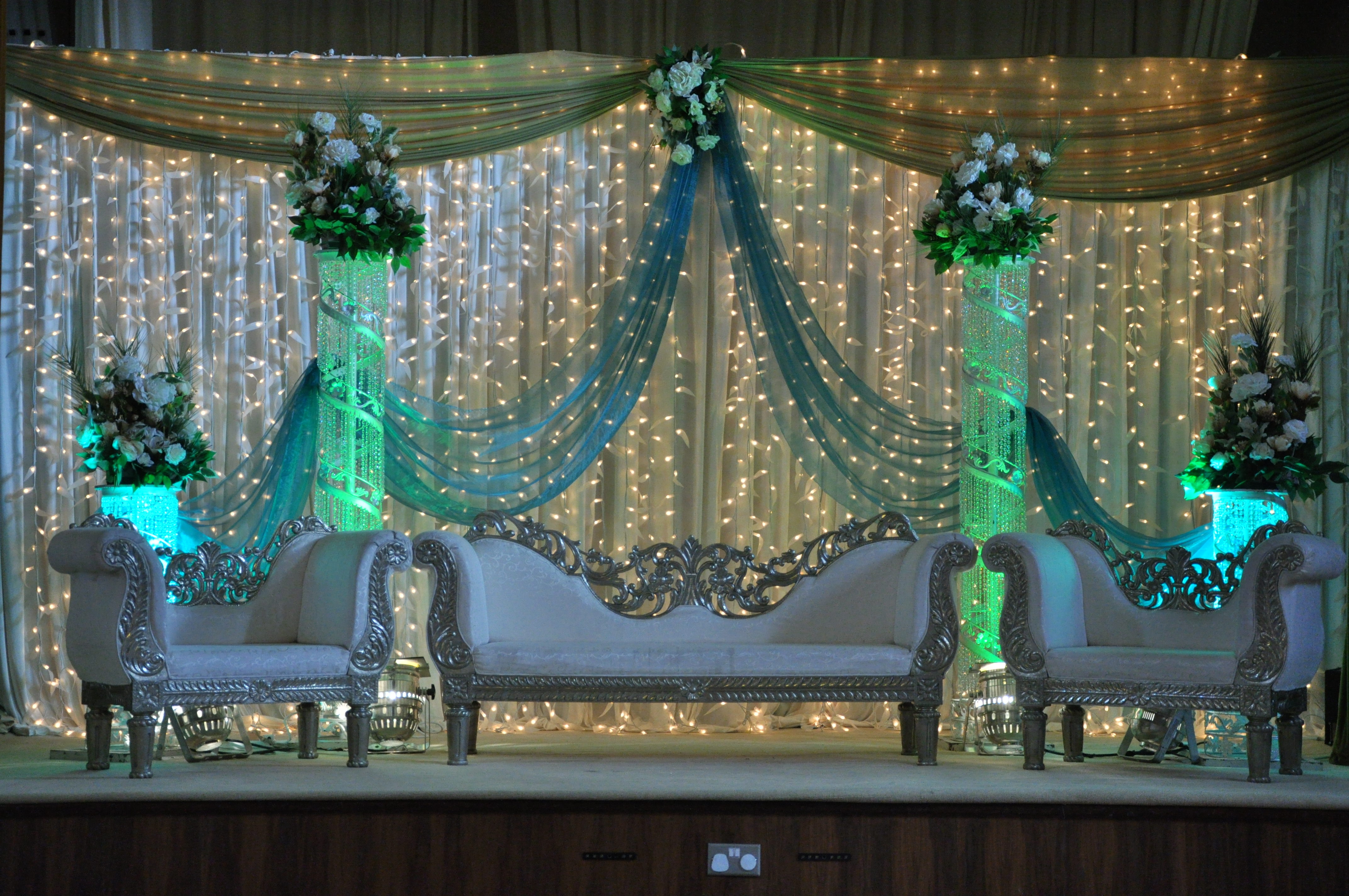 Wedding and Reception Stages